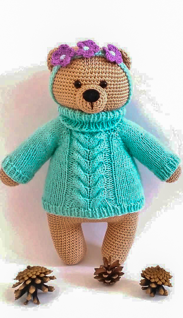 Benedict the Bear Free Amigurumi Pattern | Jess Huff | 1080x621