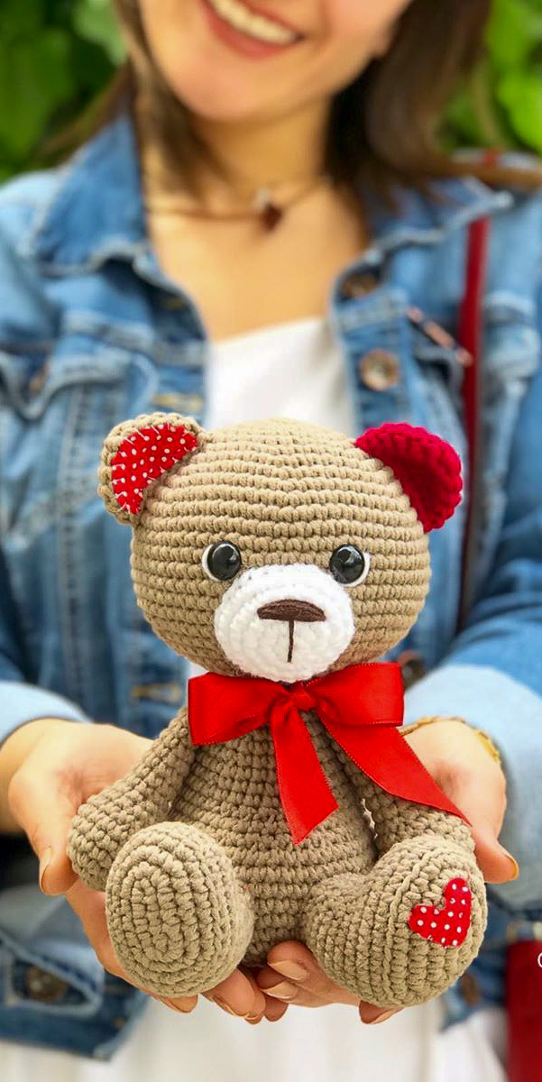 How To Make A Cute Small Crocheted Teddy Bear - DIY Crafts ... | 1200x601